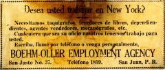 Employment announcement