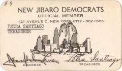New Jibaro Democrats Official Member Card