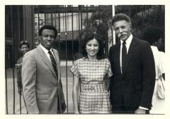 Department of Puerto Rican Community Affairs Director, Nydia Velázquez, and Oakland Mayor Ronald Dellums