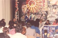 Nydia Velázquez delivering a presentation as Director of the DPRCA
