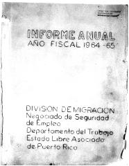 Annual Report 1964-65