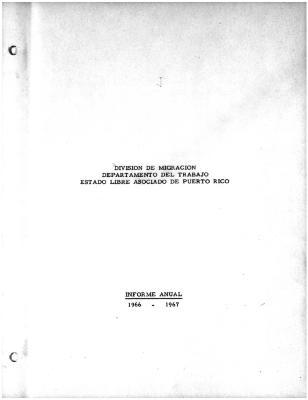 Annual Report 1966-67
