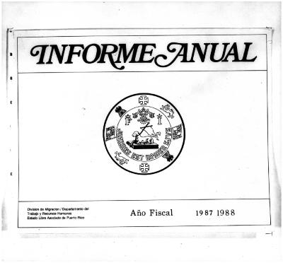 Annual Report 1987-88