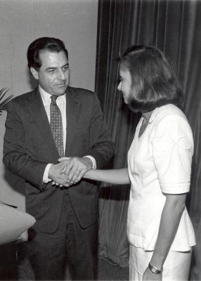 Rafael Hernández Colón and Nydia Velázquez