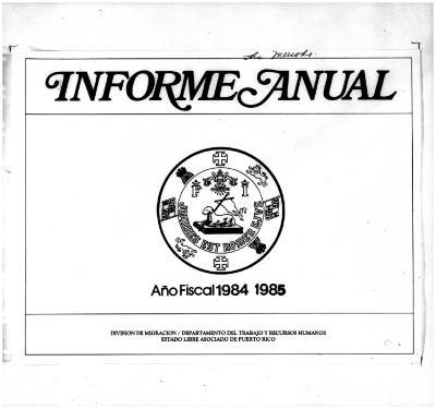 Annual Report 1984-85