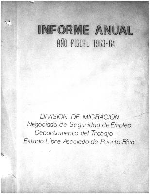 Annual Report 1963-64