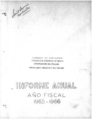 Annual Report 1965-66