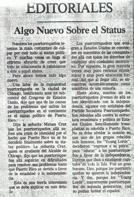 Algo Nuevo Sobre El Status / Something New about the Status