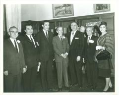 Herman Badillo and Migration Division Officers