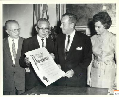 Proclamation Given by New York City Mayor Robert F. Wagner, Jr.