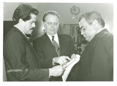 Congressman José Serrano, Rubén Berríos and Benny Frankie Cerezo