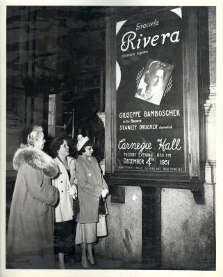 Opera Singer Graciela Rivera at Carnegie Hall
