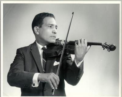 Pepito Figueroa and violin