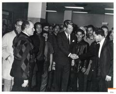 Robert F. Kennedy Shaking Hands With Man
