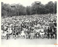 Large Crowd in Central Park