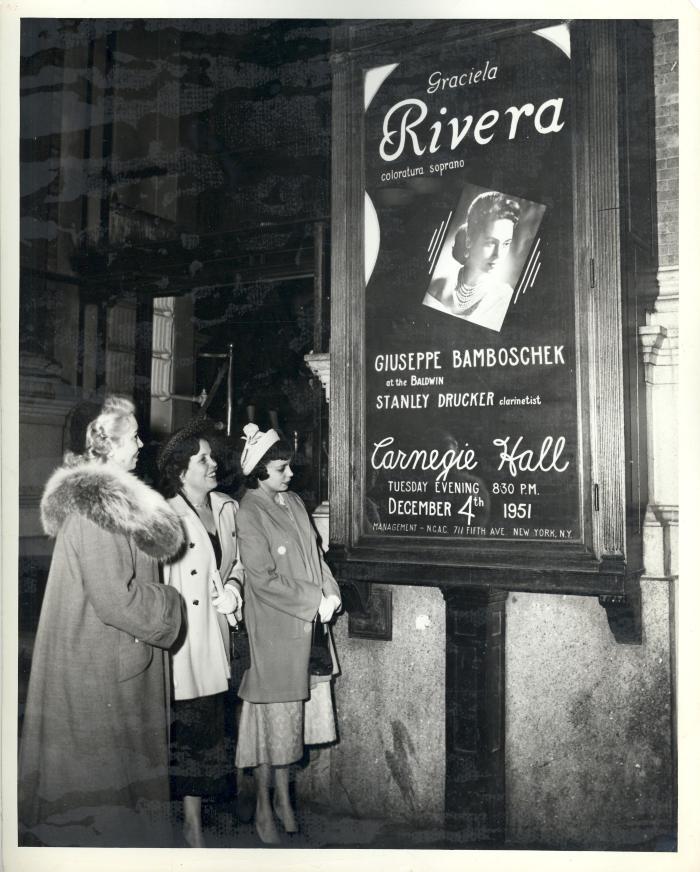 Opera Singer Graciela Rivera at Carnegie Hall
