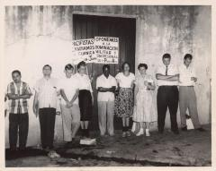 Members of the Peacemakers and the FUPI (Federacion Universitaria Pro- Independencia)