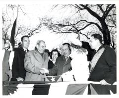 New York City Mayor Robert F. Wagner Jr. at the Puerto Rican Day Parade