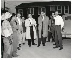 Luis Muñoz Marin visit to labor camp
