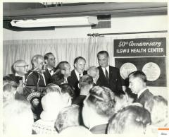 Lyndon B. Johnson At 50th Anniversary of ILGWU Health Center