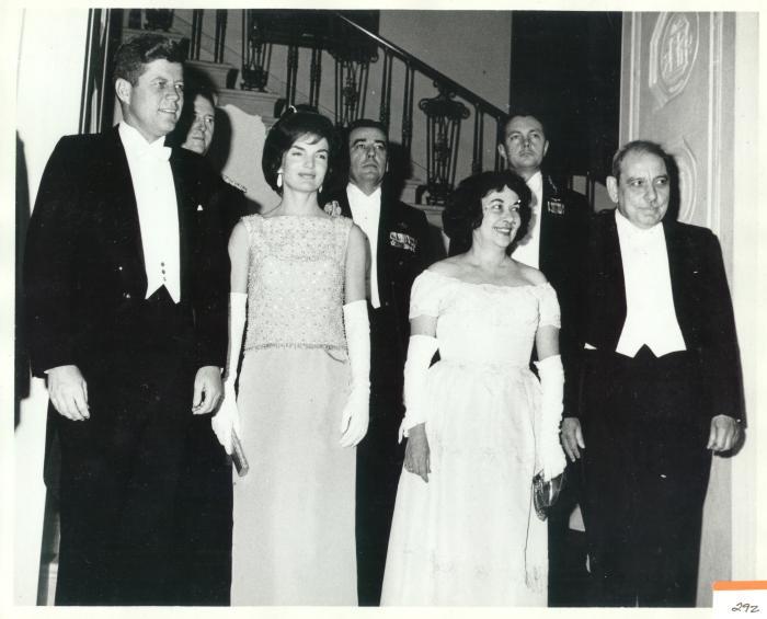 John F. Kennedy, Jacqueline Kennedy, Luis Muñoz Marin and Inés Mendoza