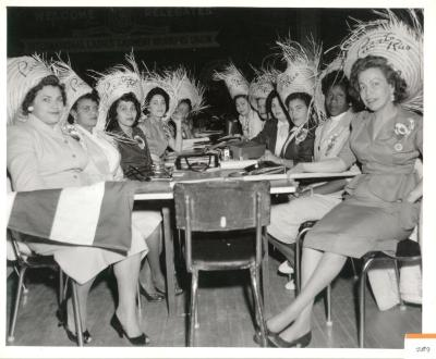 Members Of The International Ladies Garment Workers Union Wearing Their Traditional Pavas