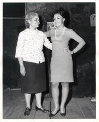Actresses Lucy Boscana and Miriam Colón