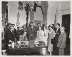New York City Mayor Robert F. Wagner, Jr. at his desk