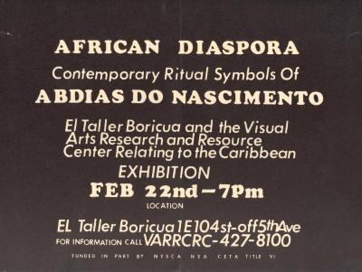 African Diaspora - Contemporary Ritual Symbols of Abdias Do Nascimento
