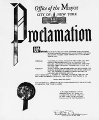 "New York City Mayor's Proclamation for ""Learn English Week"""
