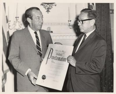 """New York City Mayor Robert F. Wagner, Jr. Declaring a Proclamation for """"Learn English Week"""""""