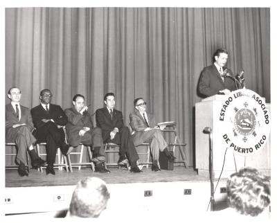 New York City Mayor John Lindsay at Podium