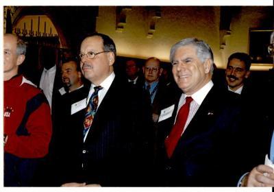 Nelson Diaz and State Senator Bob Rovner
