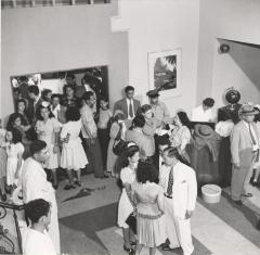 Airline passengers at Pan Am gate in Airport