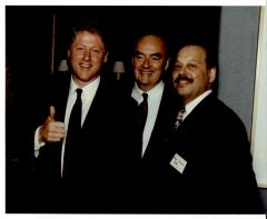 Bill Clinton, Harris Wofford, and Nelson Diaz