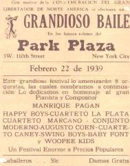 """""""Grandioso Baile en los lujosos salones del Park Plaza"""""""