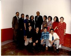 Nelson Diaz and Billy Graham in group photo