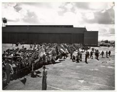 Crowd at U.S. Military Base in Puerto Rico