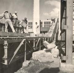 Men working at a sugar refinery