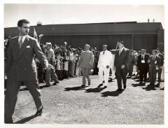 U.S. President Harry S. Truman (far left)