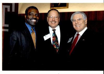 Clarence Armbrister, Nelson Diaz, and State Senator Bob Rovner