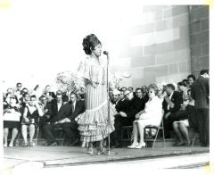 Ruth Fernández Performing at the Central Park Mall at the Puerto Rican Day Parade