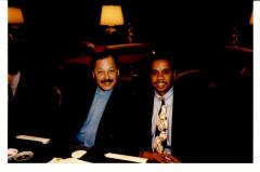 Nelson Diaz with Fox News reporter Juan Williams