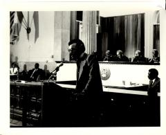 Dr. Jose E. Lebron delivering speech during Nelson Diaz' swearing-in ceremony as Judge of the Court of Common Pleas