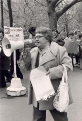 Alice Cardona at a protest