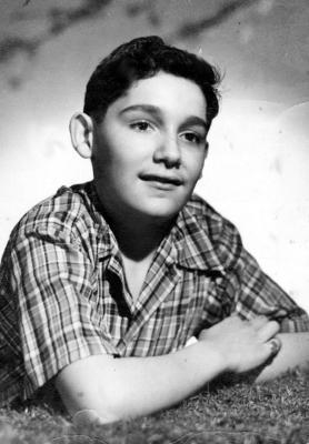 José Hernández Álvarez in School Portrait