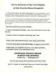 All in Defense of the Civil Rights of the Puerto Rican People!!!
