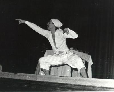 Mario César Romero in a dance troupe