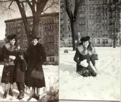 Mario César Romero's mother's first snow in NYC