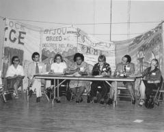 Alice Cardona (third from right) at a meeting